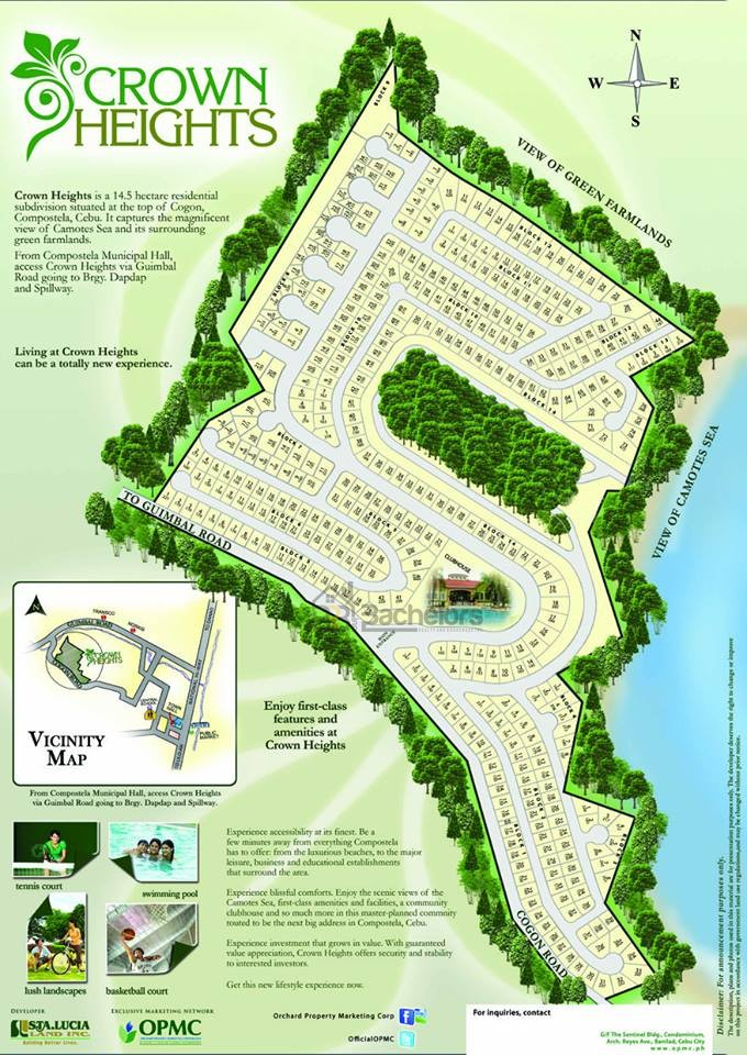 crown heights compostela subdivision map